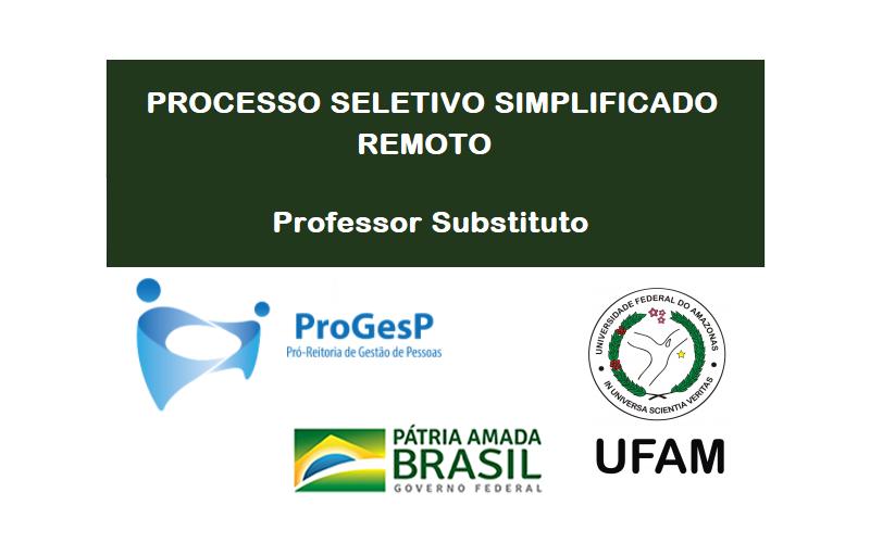Processo Seletivo Simplificado Remoto para Professor Susbtituto.