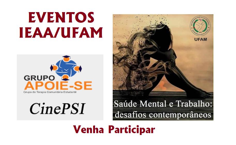 Eventos IEAA/UFAM - Venha Participar!